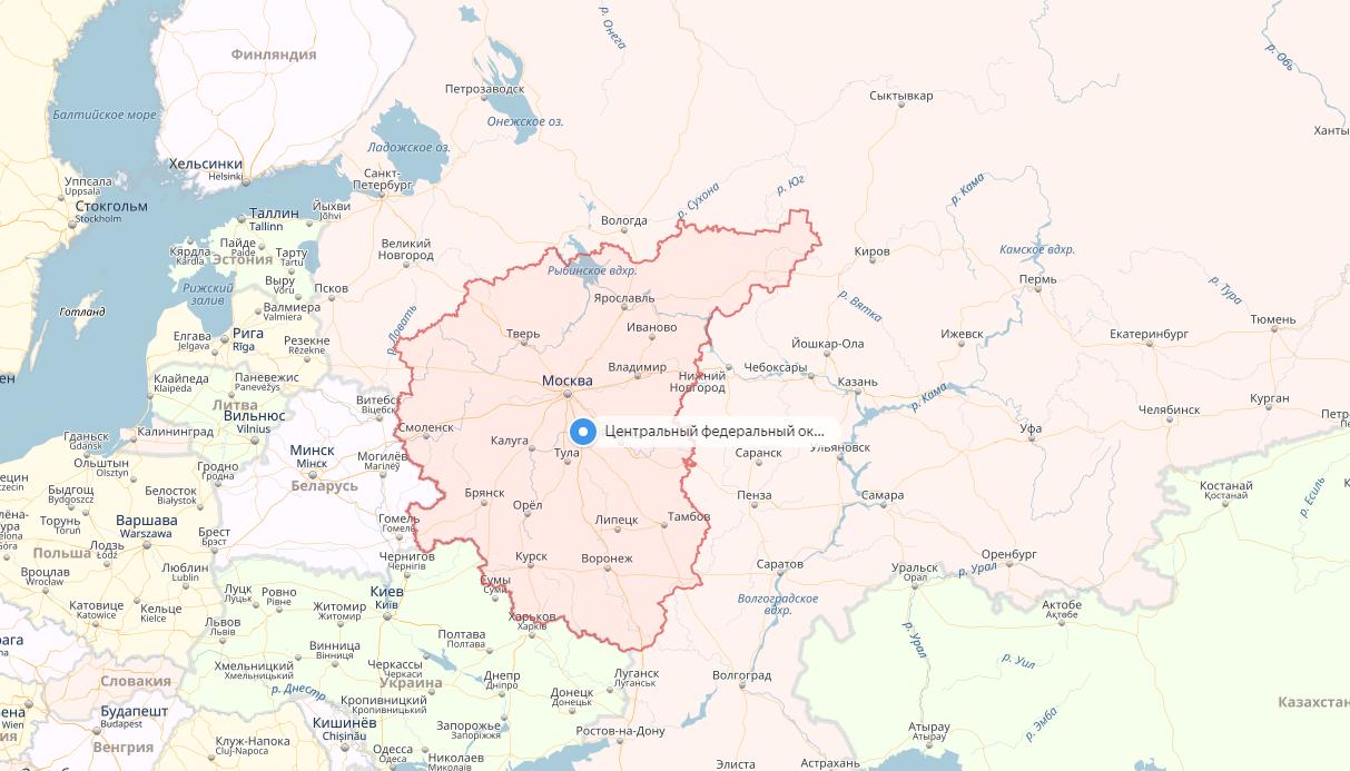 карта ЦФО